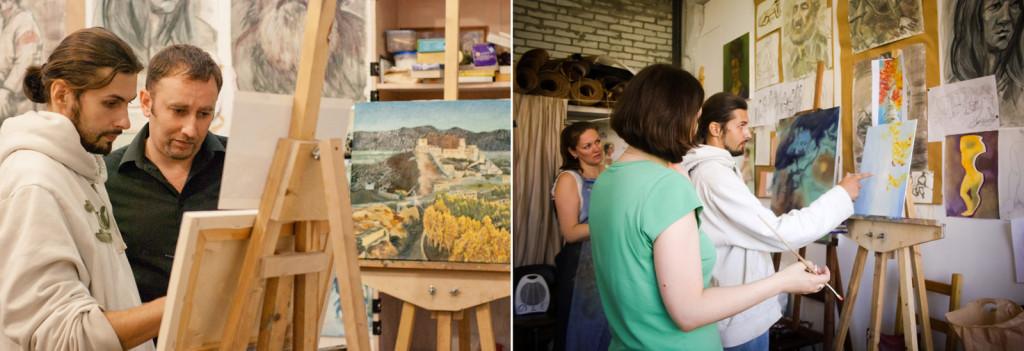 уроки рисования живописи натюрморт пейзаж портрет абстракция фэнтези с натуры по фото пленэр курсы живописи