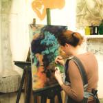 космос вдохновение картина маслом арт студия васильевский остров артмуза курсы живописи