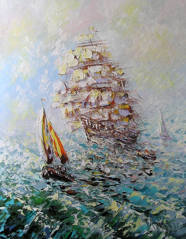 море парусник кустанович студия творчество рисование школа