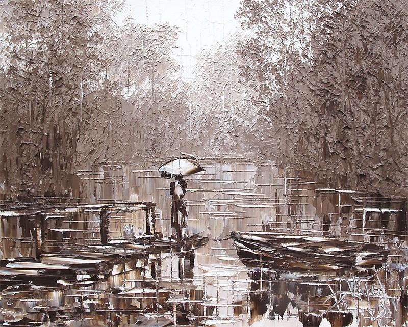 лодки пруд дождь кустанович арт креатив удовольствие алексей жуков артмуза