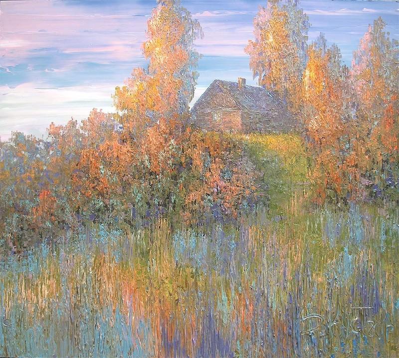 пейзаж природа россия кустанович авторская техника копия живопись в подарок