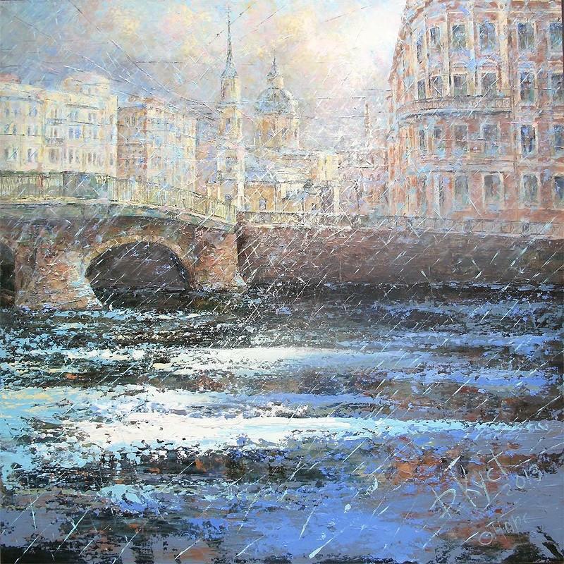 петербург мосты мастихин кустанович картины дождь пасмурно спб курсы живописи