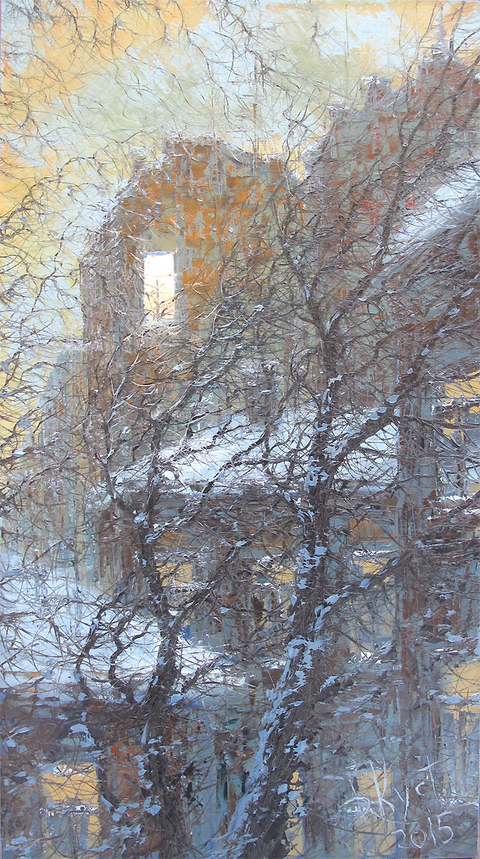 пейзаж петербург питер зима дмитрий кустанович как рисовать