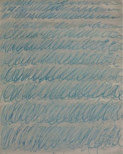 сай твомбли каракули синий поп-арт авангард живопись с нуля