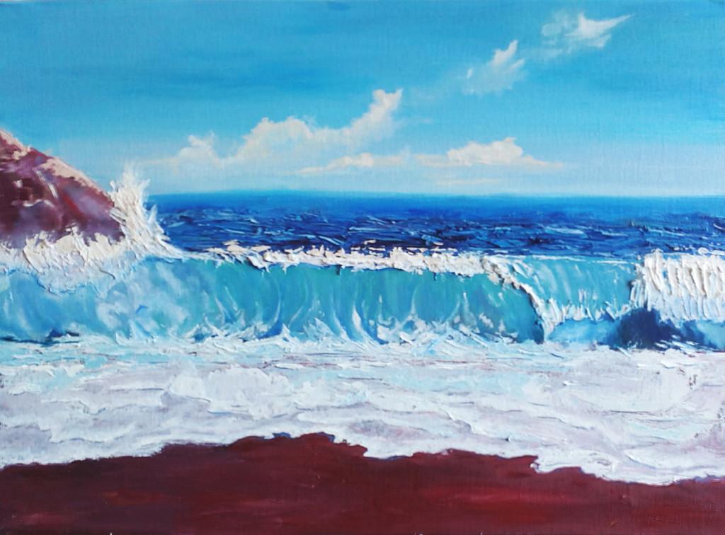 море как рисовать волны лето солнце отдых нарисовать картину своими руками курсы живописи