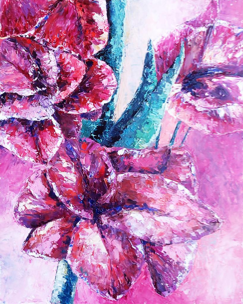 цветы мастихин стилизация спб васька васильевский остров студия рисование