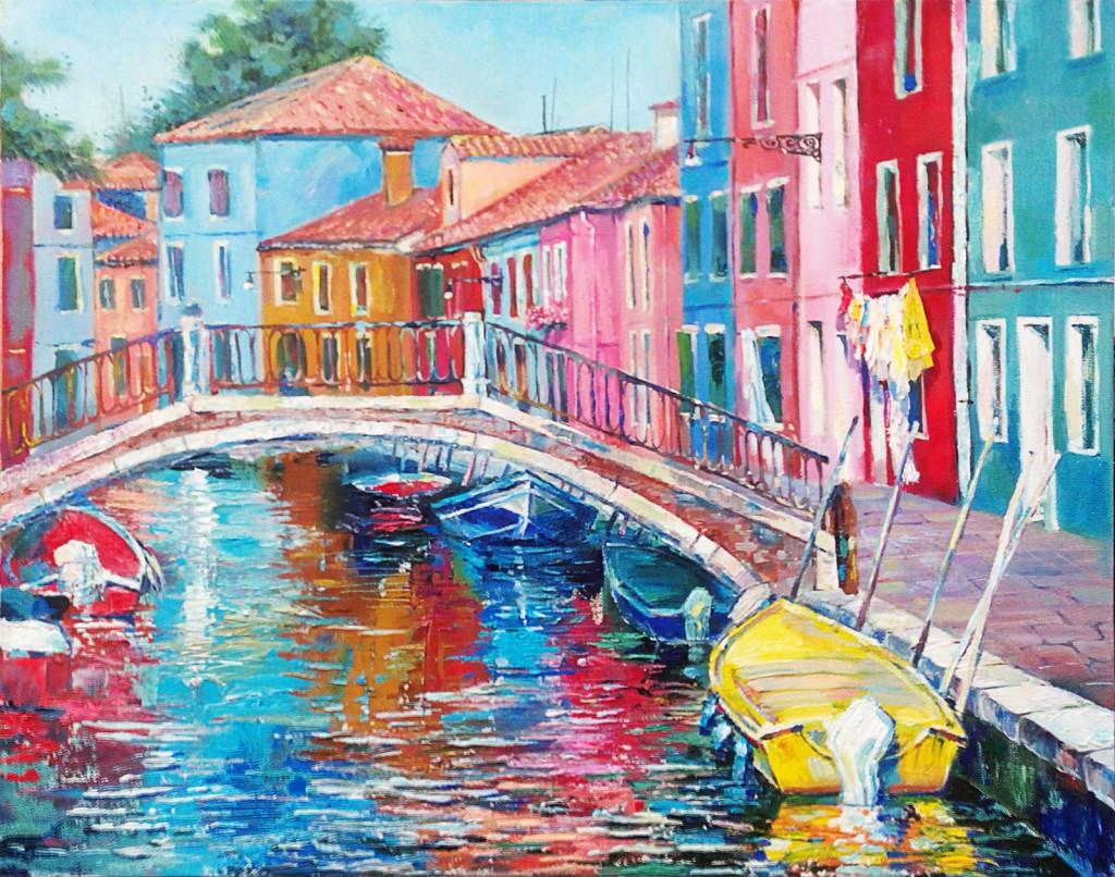 венеция картина маслом ярко красиво купить живопись занятия мастерская кисть