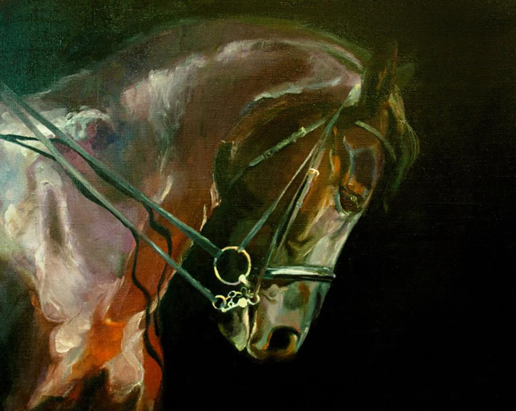 лошадь стильно интерьерная живопись декор искусство русская живопись алексей жуков