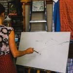 работы учеников студия наброски память внимание креативность творческие способности рисовать пейзаж трава дом дорога горы небо как рисовать спб питер
