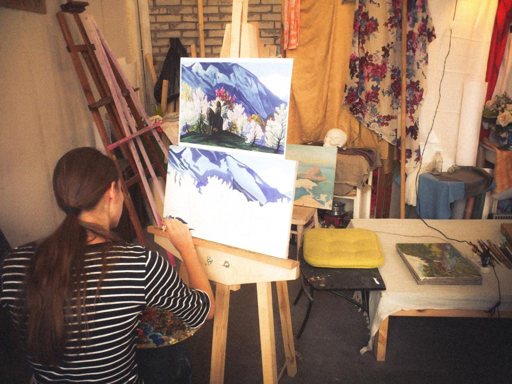 уроки живописи васильевский остров петербург мастерская цвет кисти колорит