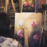 ДЕКОРАТИВНАЯ ЖИВОПИСЬ хобби как провести время интересные события петербурга лучшие места мастер-класс лучшая студия рисования спб цветы розы картина маслом