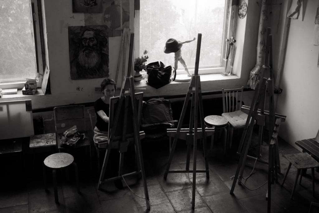 мастерская уютно гостеприимно мольберты художественные товары обучение спб
