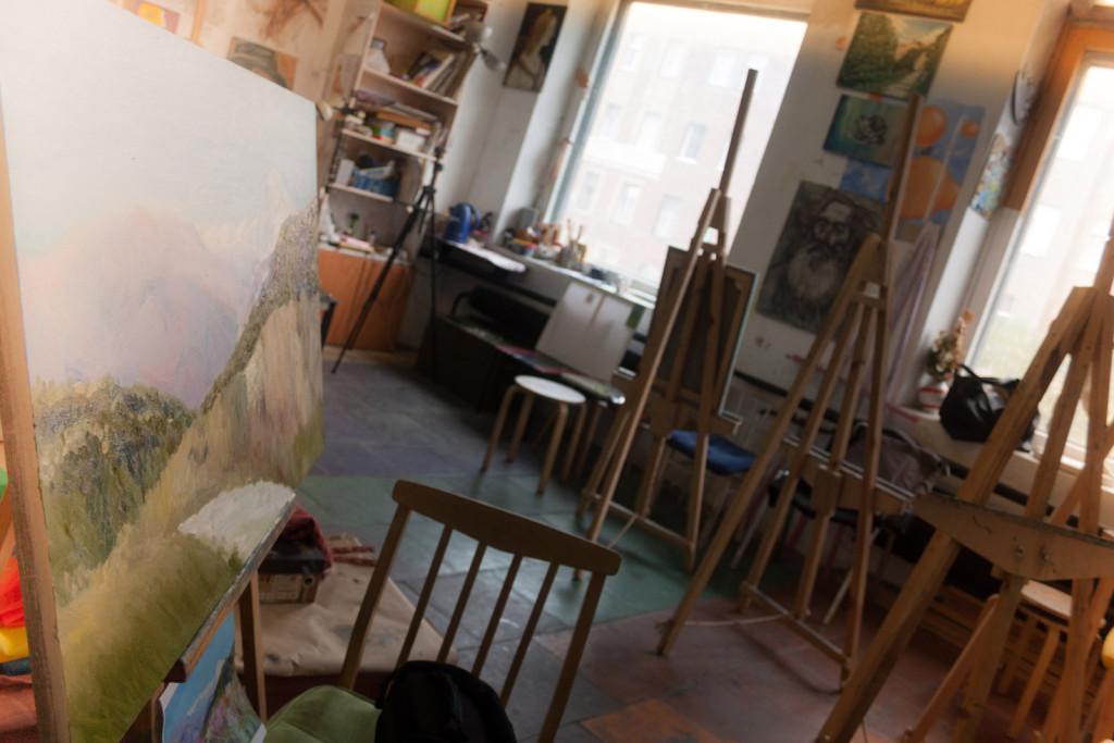 студия живописи на ваське петербург мастерская курсы живописи артмуза