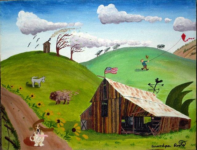 зеленый голубой коричневый ветер сша искусство живопись для начинающих