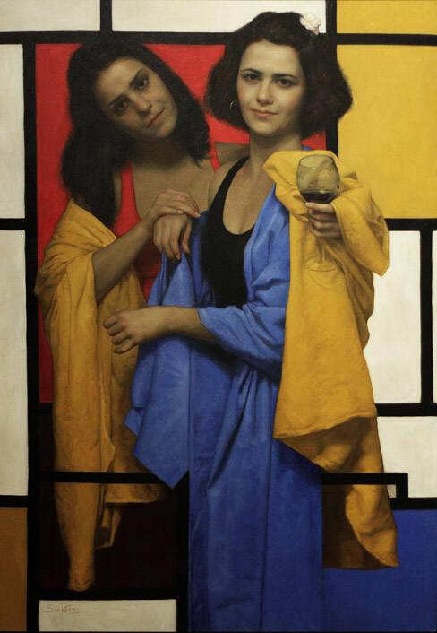 сезар сантос пит мондриан абстракция современное искусство купить картину классическое искусство попарт курсы живописи пойти рисовать краски удовольствие лучшее хобби спб питер