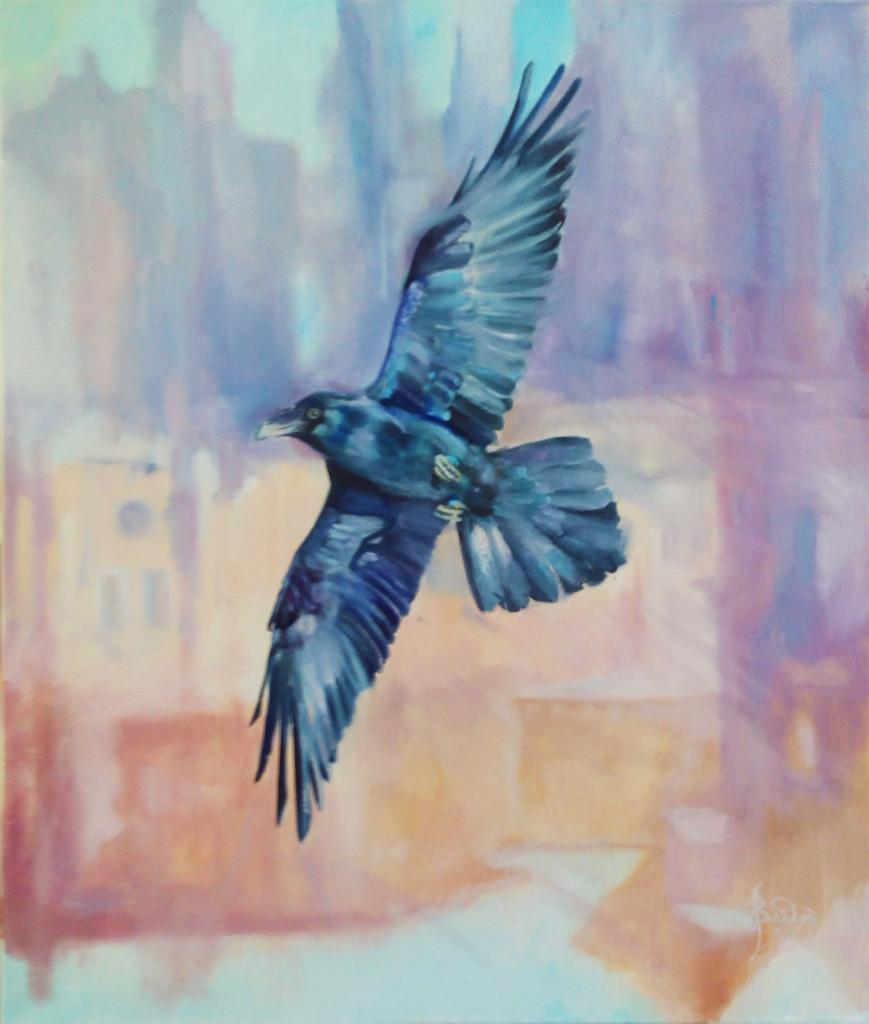 птица парит город пейзаж животные картина маслом копия оригинал шедевры живописи нарисовать свою картину