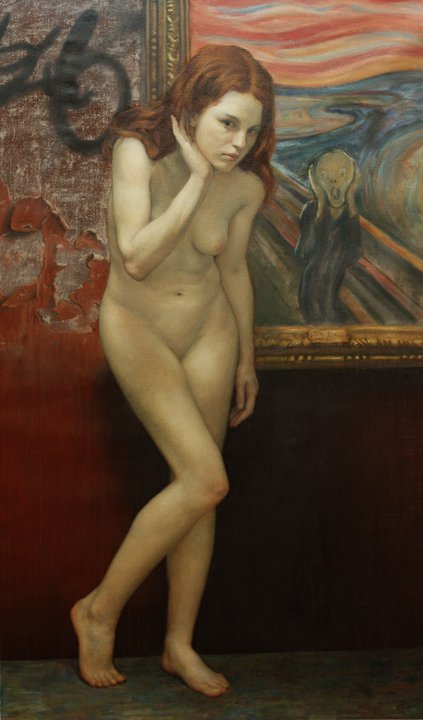 Cesar Santos 1982 - Cuban-born American Figurative painter - Nude Portrait