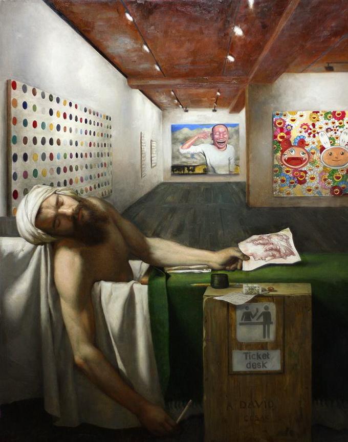 CesarSantos давид смерть марата классицизм искусство франции шедевр живописи копировать картину как научиться рисовать пойти на занятие мастер-класс спб питер