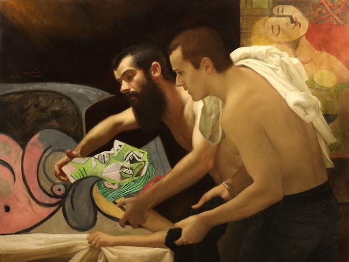 сезар сантос пикассо великие художники шедевры картина по фото пейзаж портрет ню натюрморт заказать роспись занятия в студии пленэр курсы живописи