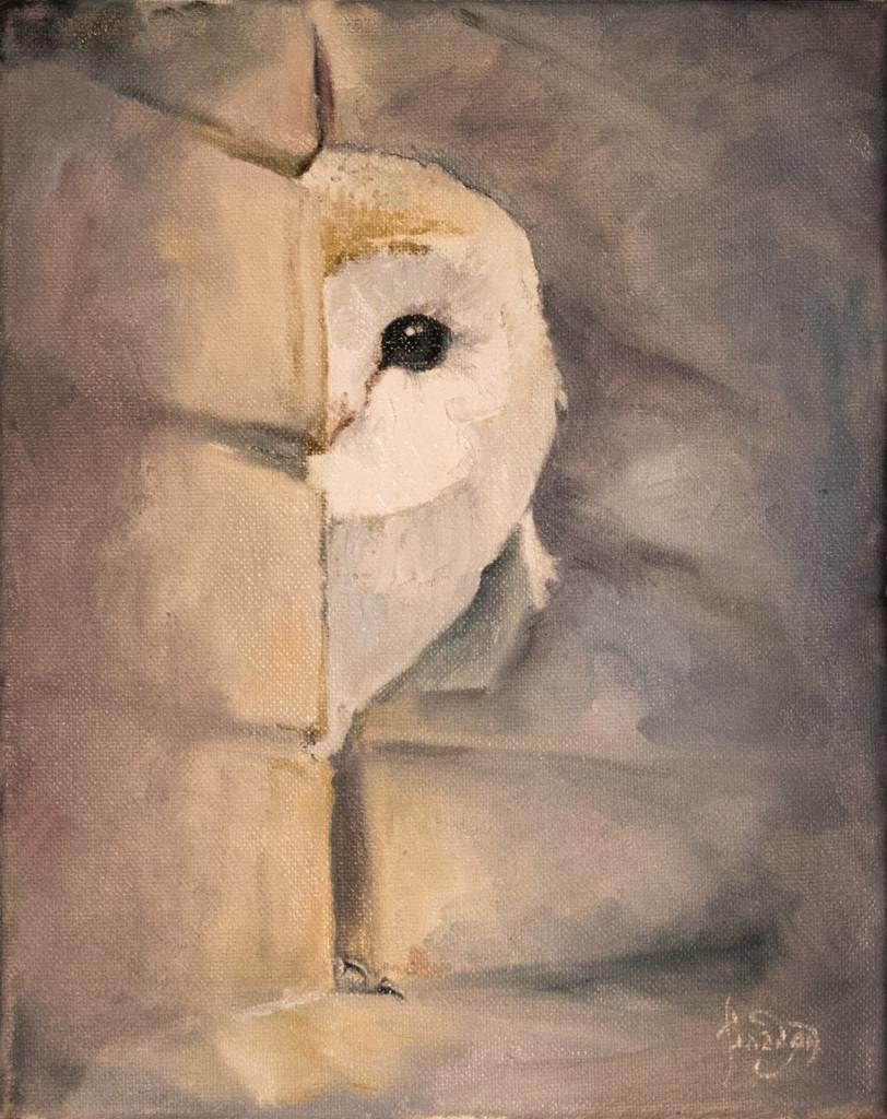 сова миниатюра композиция колорит пластика импрессионизм классическое искусство виды искусства жанры живописи спб алексей жуков