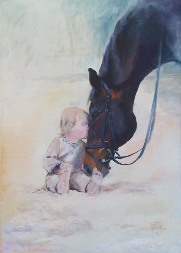 лошадь с ребенком как рисовать животных пособие самоучитель вебинары студия живописи спб артмуза васильевский остров
