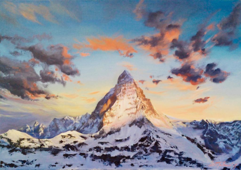 raboty_ychenikov_kyrsy_zhivopisi_petersburg_горы эверест закат небо пейзаж зима облака красивая картина купить живопись спб пойти рисовать курсы живописи петербург алексей жуков