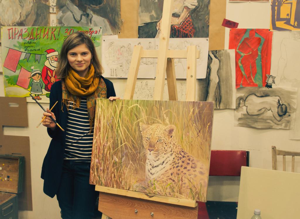raboty_ychenikov_kyrsy_zhivopisi_petersburg_тигр лев пейзаж животные картина маслом шедевр работа учеников записаться на занятие уютная студия живописи творческая мастерская артшкола васильевский остров
