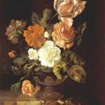 Рашель Рюйш Цветы в вазе эпоха возрождения красный черный белый цветы классицизм барокко стили живописи васильевский остров творческая мастерская артшкола