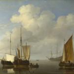 Willem van de Velde Dutch Ships in a Calm живопись уроки мастер-класс видеоуроки пособие начать рисовать курсы живописи артмуза лофт галерея шедевры старых мастеров сделать копию своими руками