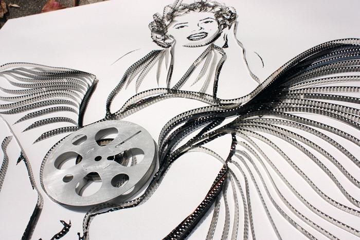 картина из кинопленки мэрлин монро голливуд картина роспись стен заказать портрет
