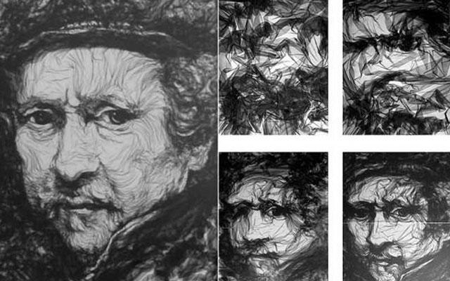 картина из ткани с помощью утюга 2 (прессует тюль)