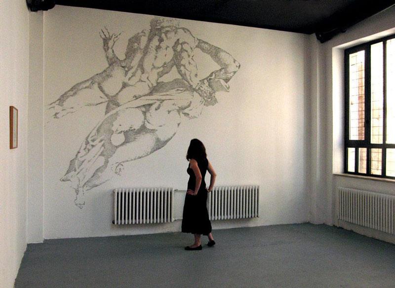 картины из строительных скрепок на стене курсы живописи спб петербург