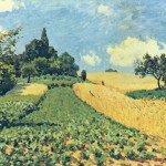 Альфред Сислей Пшеничные поля в Арженте
