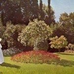 клод моне дама в саду