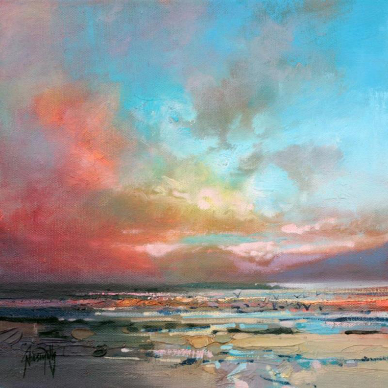 облака небо как рисовать пейзаж картина маслом берег пляж север мастихин краски рисование для начинающих обучение курсы
