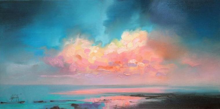 панорама картина небо море спокойствие гармония хобби увлечение живопись искусство творчество привелегия радость