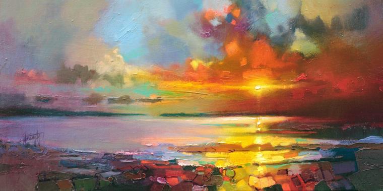 солнце облака тучи море поля берег скот нейсмит творчество искусство старые мастера современное искусство