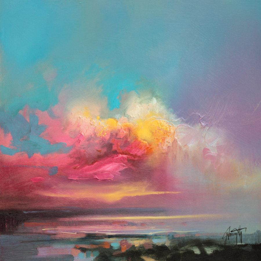 облака небо скот нейсмит море живопись мастихином