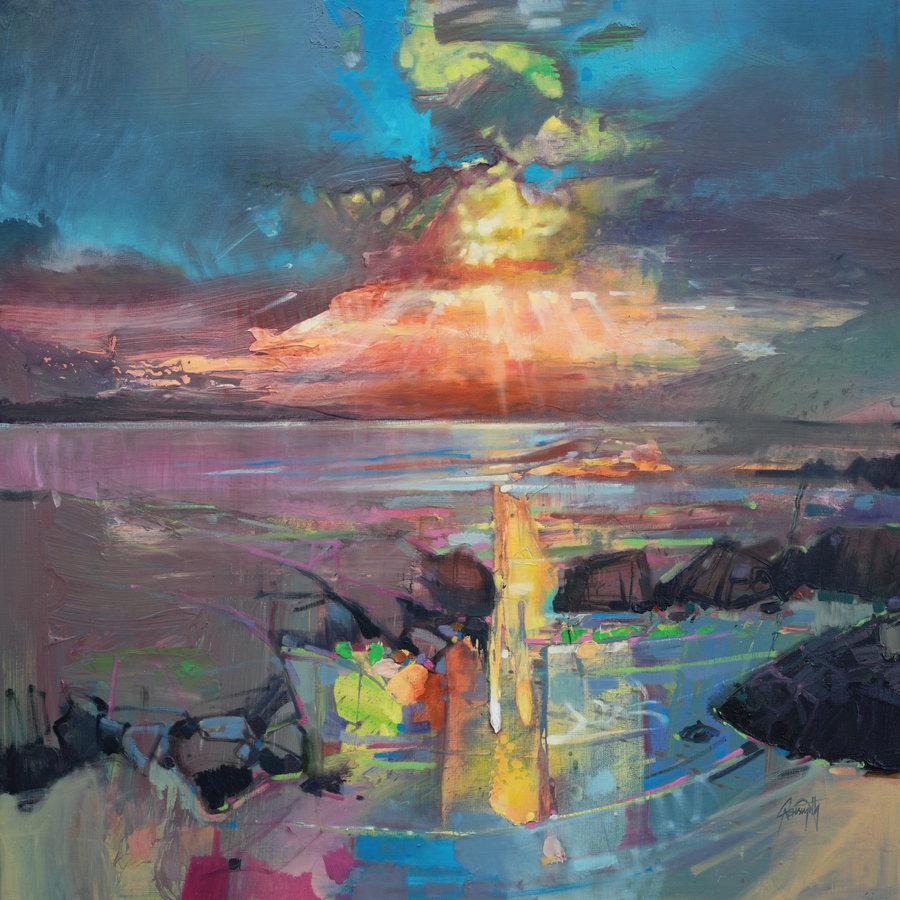 небо лучи солнце рифы скалы закат пейзаж как нарисовать картину маслом спб петербург обучение