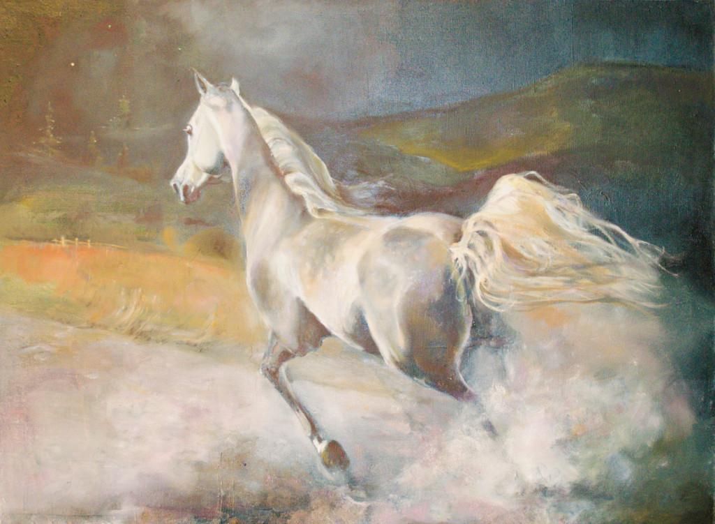 уроки живописи рисование творчество пойти рисовать лошадь поле пейзаж небо ночь страсть движение динамика картина в интерьер искусствоведы рекомендуют галерея арт студия алексей жуковк