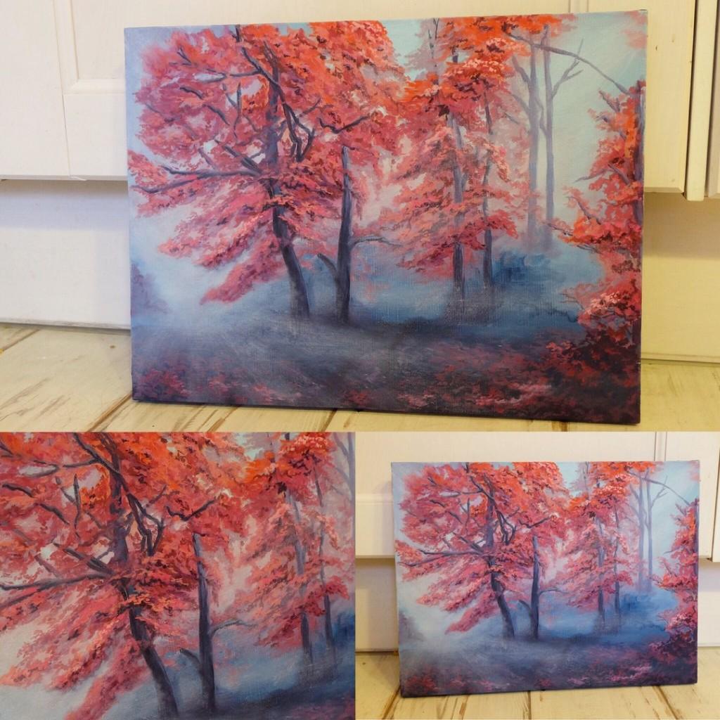 шедевр картина маслом пейзаж осень дерево листья как рисовать осень пейзаж парк дорога свет туман картина масолм эрмитаж лувр обучение курсы живописи