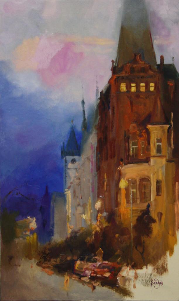 прага городской пейзаж яркие сочные цвета арт студия классическая живопись импрессионисты авангарды поп-арт с чего начать рисовать картину маслом пособие спб питер придти рисовать