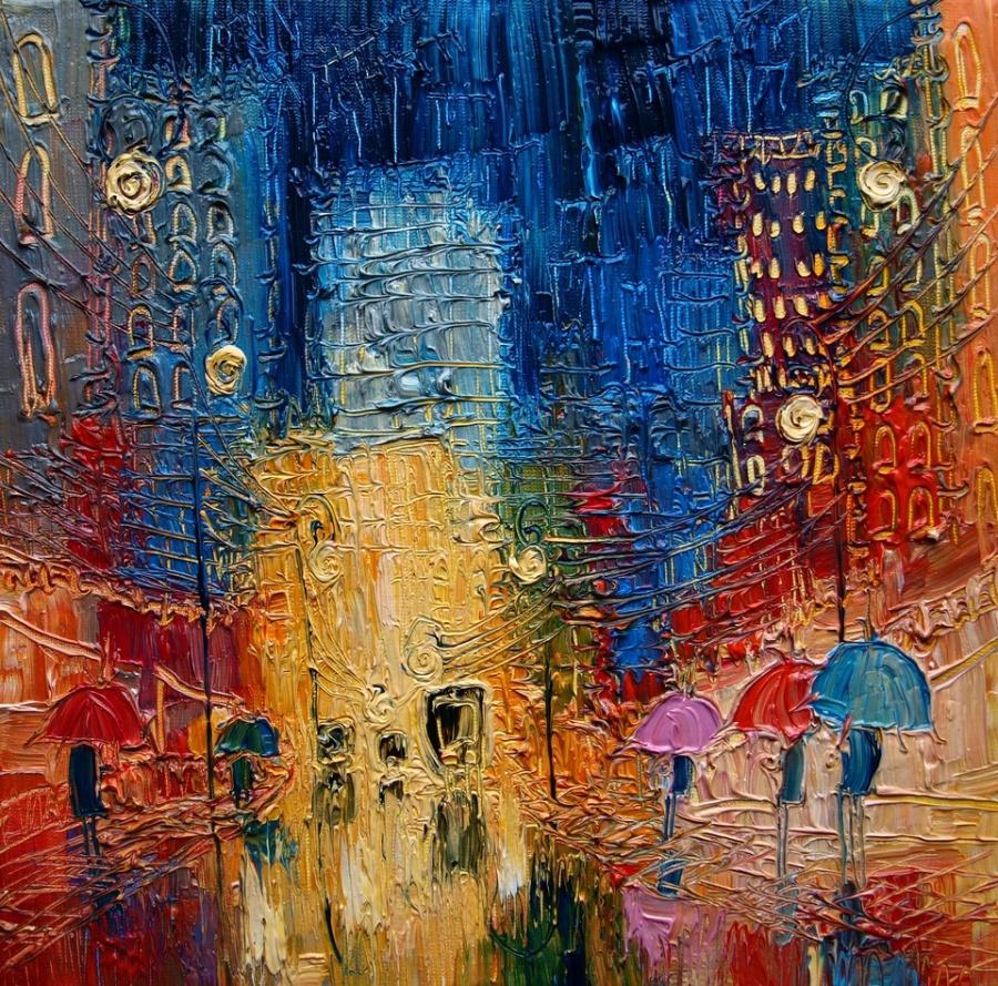 дома улица городской пейзаж современное искусство творчество креатив прикольная картина алексей жуков обучение как рисовать курсы живописи