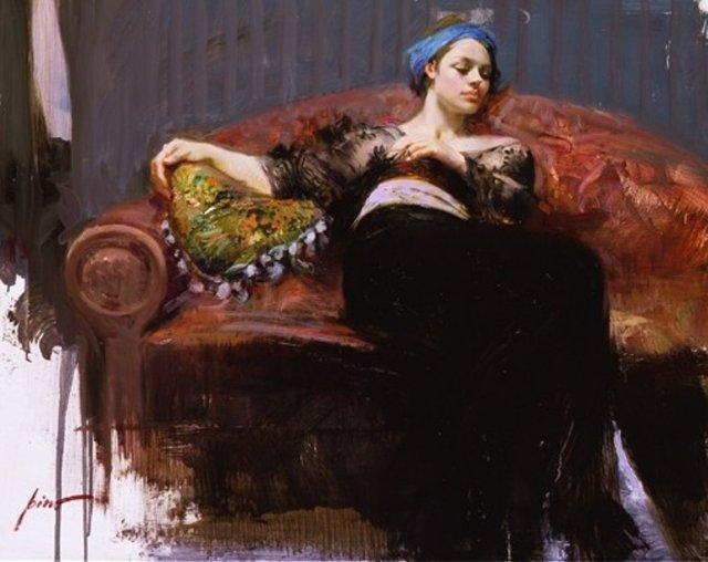девушка на диване женский портрет оформить интерьер картина сделать копию на заказ своими руками подарок научиться рисовать арт студия курсы живописи