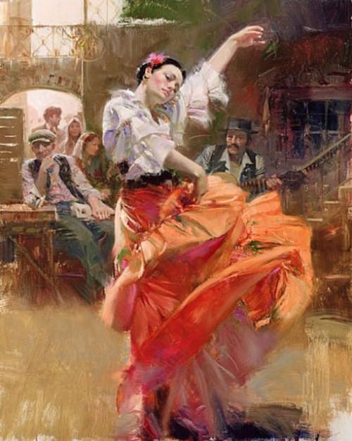 танго красный коричневый белый живопись маслом танец картина маслом пино итальянская живопись как рисовать поэтапно васильевский остров алексей жуков