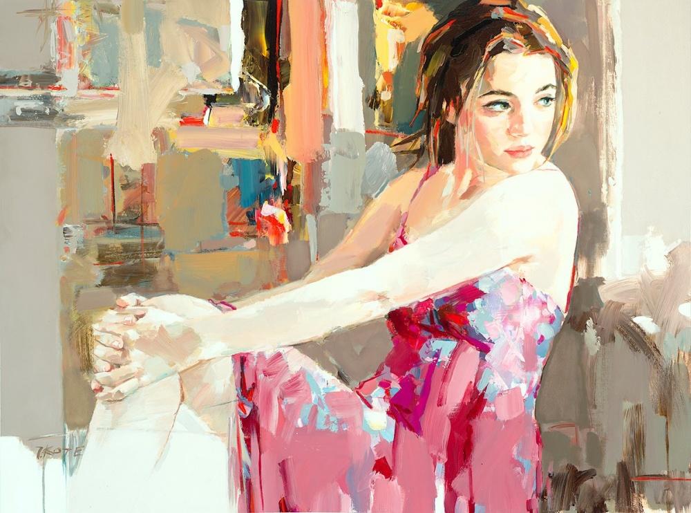 курсы живописи josef kote живопись маслом девушки морской пейзаж современный художник искусство пойти рисовать вдохновение арт-школа