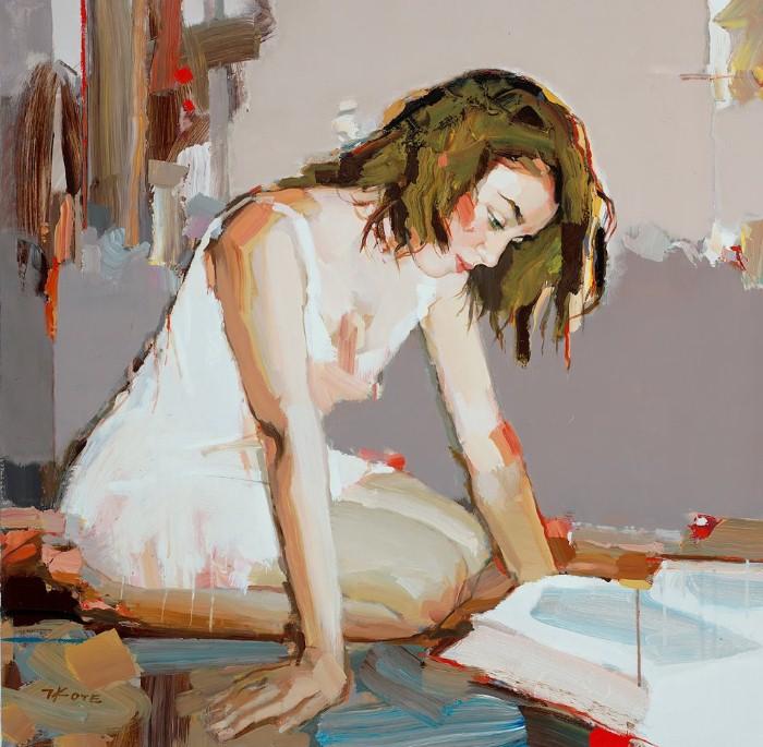 девушка читает обнаженка натурщица как рисовать тело правильно обучение наброски живопись для взрослых петербург курсы мастерская музей выставка алексей жуков