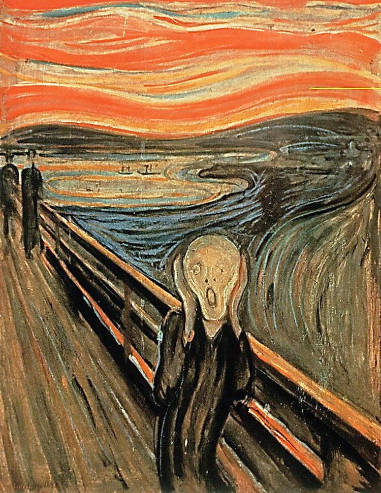 munk эдвард мунк крик на мосту пейзаж фигура человека постимпрессионизм научиться рисовать вдохновение талант живопись для взрослых лучшие курсы петербурга профессионально и эффективно