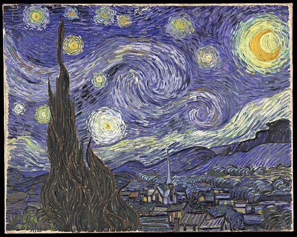 van gogh ван гог звездная ночь мазки цвет копия нарисовать в подарок картину шедевры живописи как рисовать пейзаж чем заняться в спб куда пойти рисовать курсы живописи
