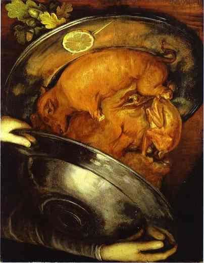 повар джузеппе арчимбольдо портрет натюрморт фрукты тарелки голландский натюрморт итальянское возрождение животные как рисовать портрет